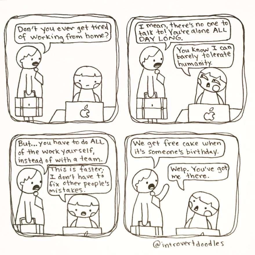 introvert, tekeningen